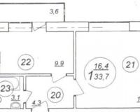 Квартира-студия 33.7 кв. м